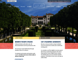 vizcaya.org screenshot