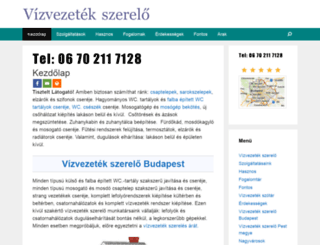 vizvezetekszerelo.dugulaselharitas.net screenshot