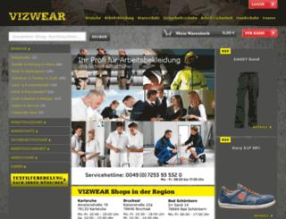 vizwear-shop.de screenshot