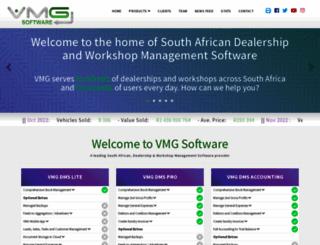 vmgsoftware.co.za screenshot