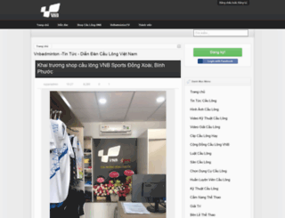 vnbadminton.com screenshot