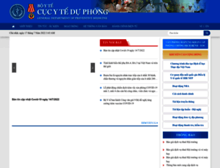 vncdc.gov.vn screenshot