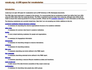 vocab.org screenshot