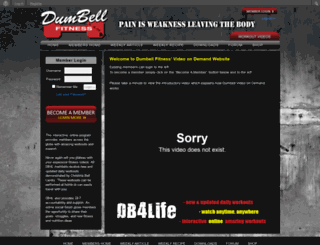 vod.dumbellfitness.com screenshot