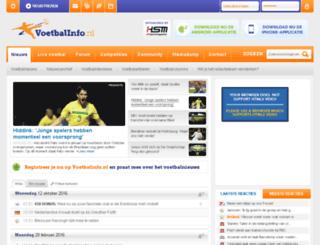 voetbalinfo.nl screenshot