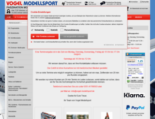 vogel-modellsport.de screenshot