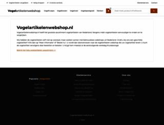 vogelartikelenwebshop.nl screenshot
