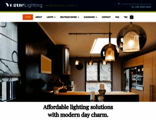 voguelighting.com.au screenshot