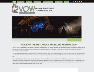 voiceofthewetlands.org screenshot