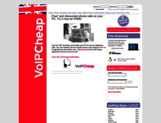 voipcheap.co.uk screenshot