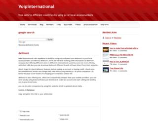 voipinternational.webs.com screenshot