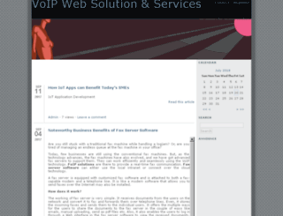 voipwebsolution.sosblogs.com screenshot