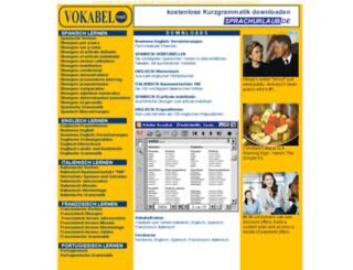 vokabel.net screenshot