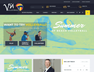 volleyballsa.com.au screenshot