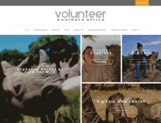volunteersa.com screenshot