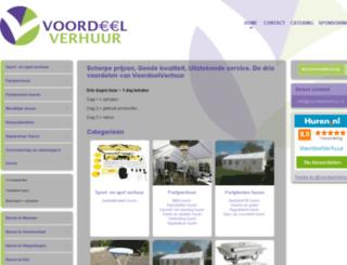 voordeelverhuur.nl screenshot