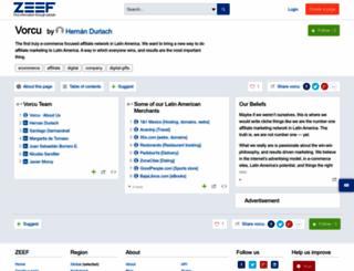 vorcu.zeef.com screenshot