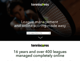vos.tenniscores.com screenshot