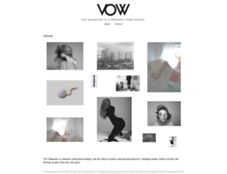 vow-magazine.com screenshot