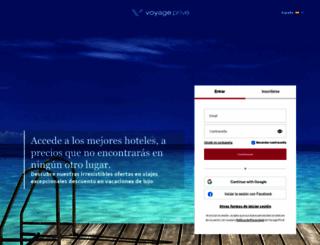 voyage-prive.es screenshot