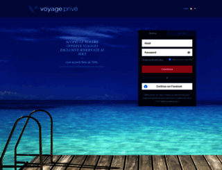 voyage-prive.it screenshot