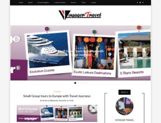 voyagertravel.com.au screenshot