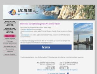 voyagesarcenciel.be screenshot