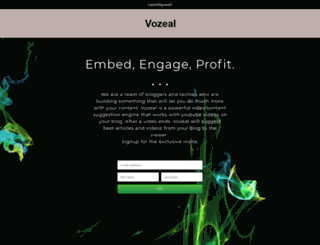 vozeal.launchrock.com screenshot