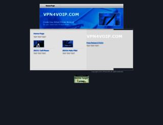vpn4voip.com screenshot
