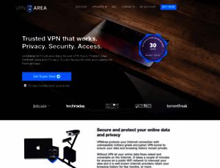 vpnarea.com screenshot