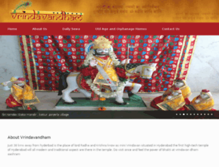 vrindavandham.org screenshot