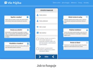vsepujcka.cz screenshot