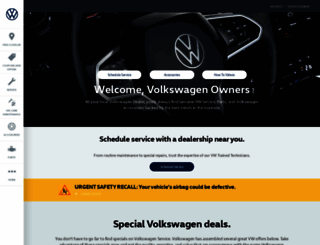 vwserviceandparts.com screenshot