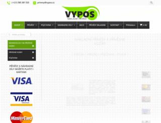 vypos.cz screenshot
