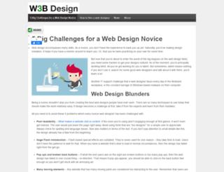 w3b-design.com screenshot