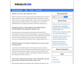 w3eagles.com screenshot