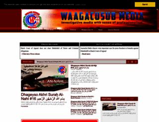 waagacusub.info screenshot
