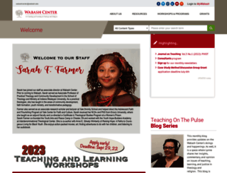wabashcenter.wabash.edu screenshot