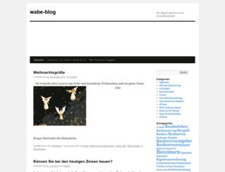 wabe-blog.de screenshot