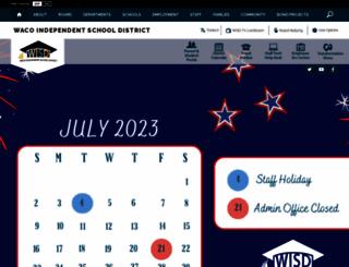 wacoisd.org screenshot