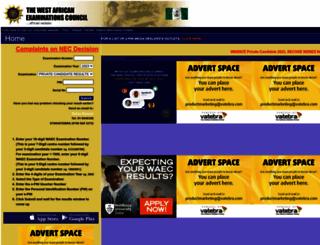 waecdirect.org screenshot