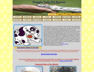 waggintailsrescue.com screenshot