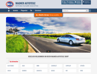wagner-autoteile.de screenshot