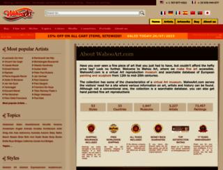 wahooart.com screenshot