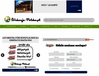 wakacje-polska.pl screenshot