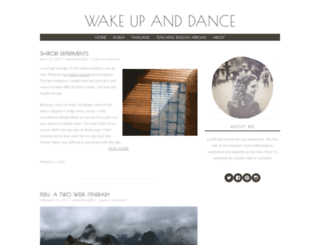 wakeupanddance.com screenshot