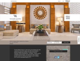 waldorfastoriapanama.com screenshot