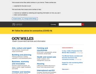 wales.gov.uk screenshot