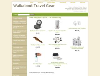 walkabouttravelgear.net screenshot