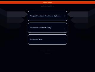 walkforhealth.in screenshot